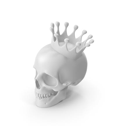 White Skull With Crown