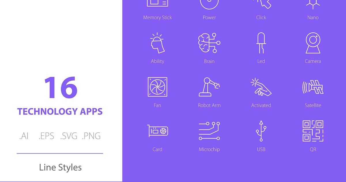 Download Technology Apps Icon Set Line Styles by Richard_2010