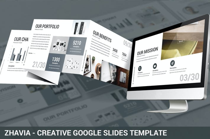 Thumbnail for Zhavia - Creative Google Slides Template