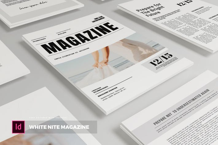 Thumbnail for White Nite | Magazine Template