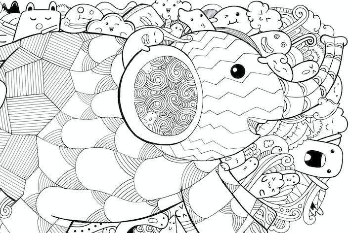 Thumbnail for Elefant Doodle
