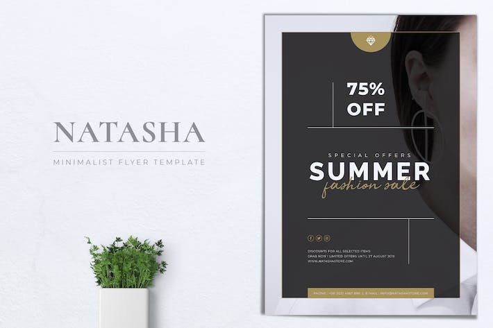 Thumbnail for NATASHA Summer Fashion Sale Flyer