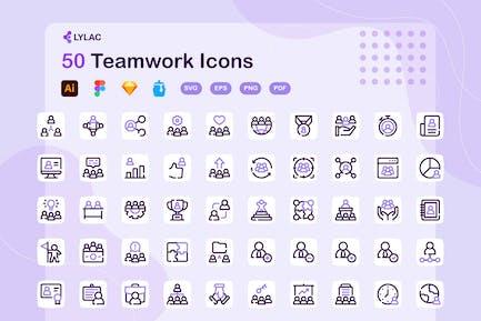 Lylac - Teamwork Icons