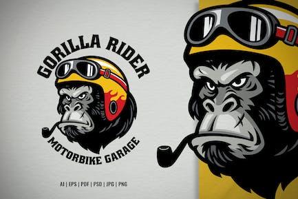 Gorilla Head Motorcycle Garage Logo