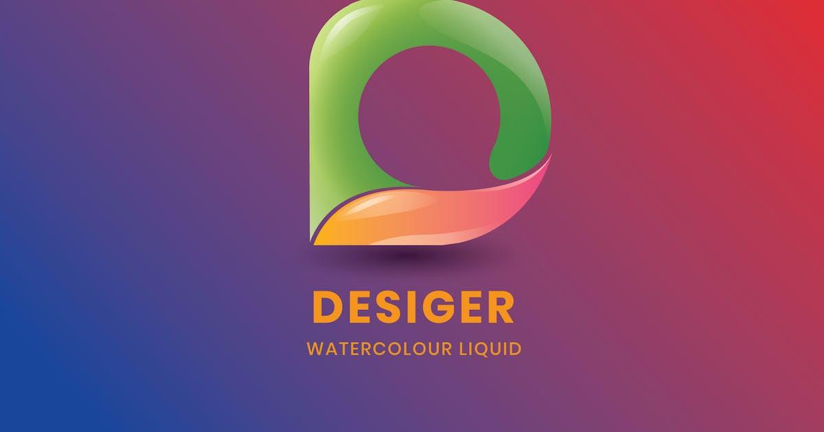 Download Letter D - Watercolour liquid by nanoagency