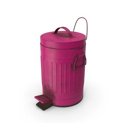Pedal Trash Bin Purple Dirty