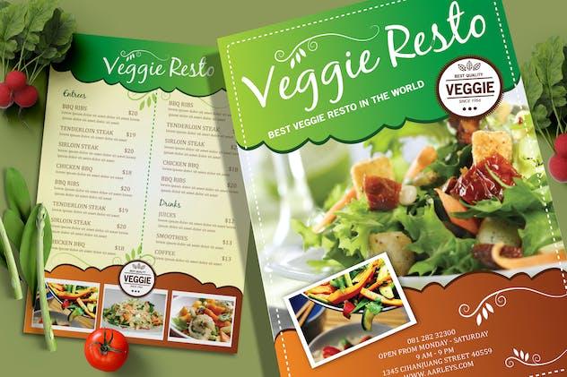 Vegetarian Resto Menu Flyer