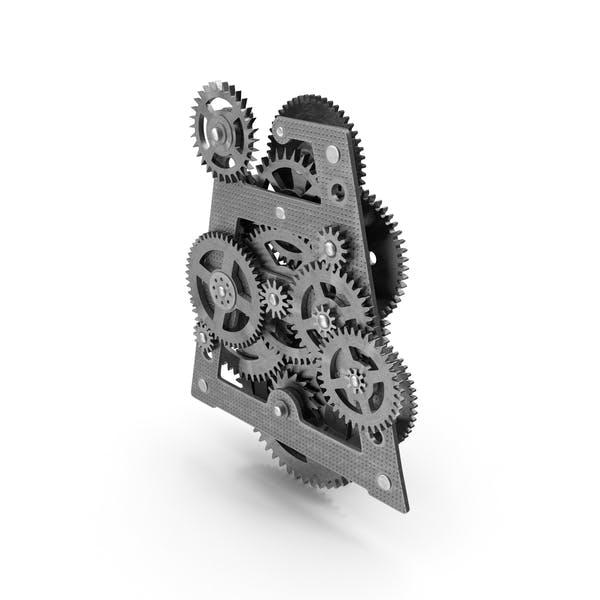 Clockwork Gears Silber