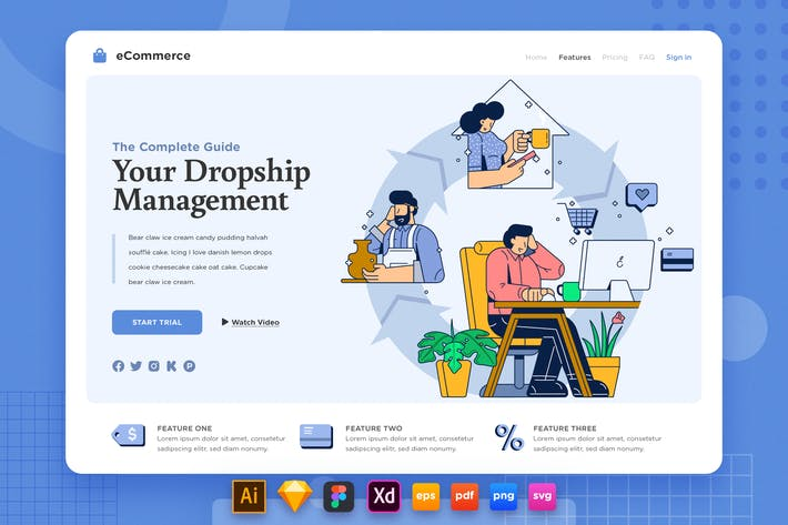 Thumbnail for Landing Page V.21 Ecommerce - Dropship Management