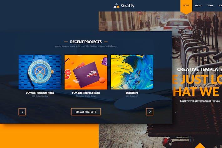 Thumbnail for Graffy - Responsive Multi-Purpose Flat Template
