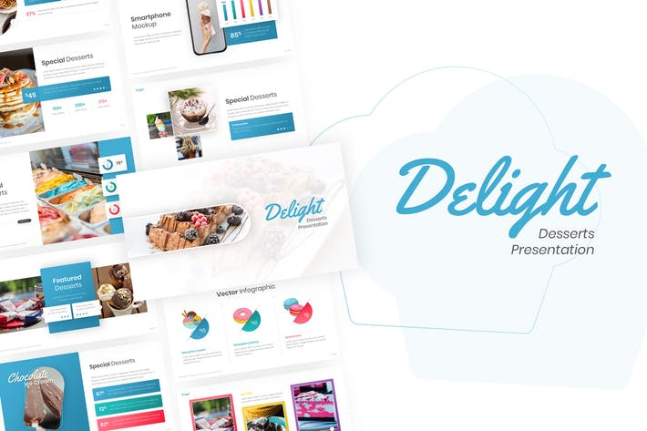 Thumbnail for Delight - Десерт & Торт Powerpoint Шаблон