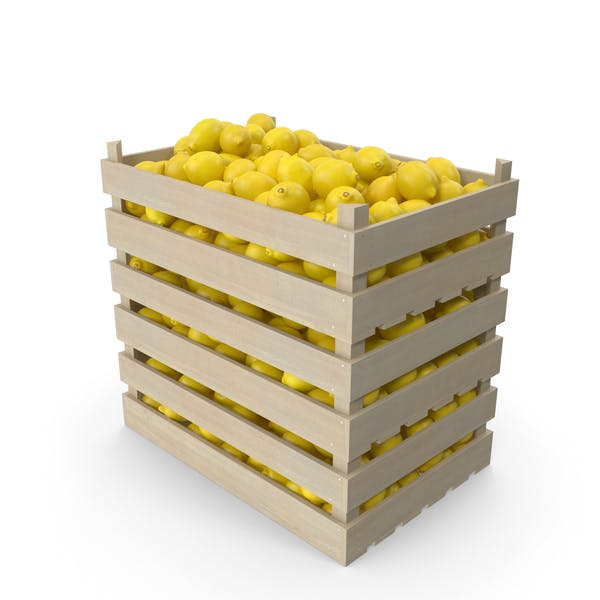 Wooden Crates with Lemons