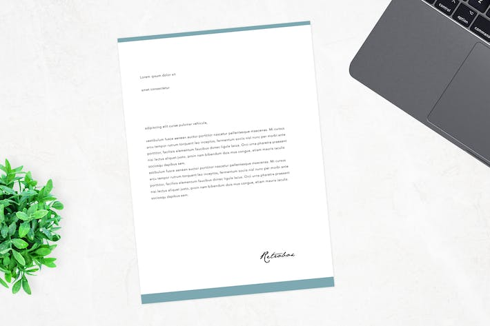 Thumbnail for Corporative Letterhead Mock Up Vol 03