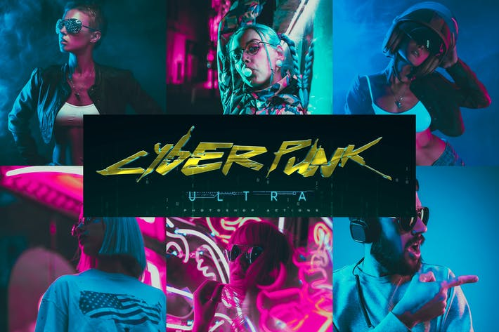 Thumbnail for Ultra CyberPunk Photoshop Actions