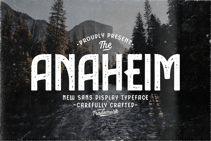 Anaheim Sans Display Typeface