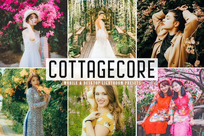 Thumbnail for Cottagecore Mobile & Desktop Lightroom Presets