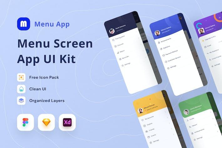 Thumbnail for Menü-Bildschirm-UI-Kit