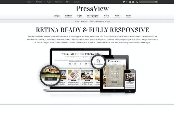 Cover Image For PressView Vintage and Stylish Magazine Template