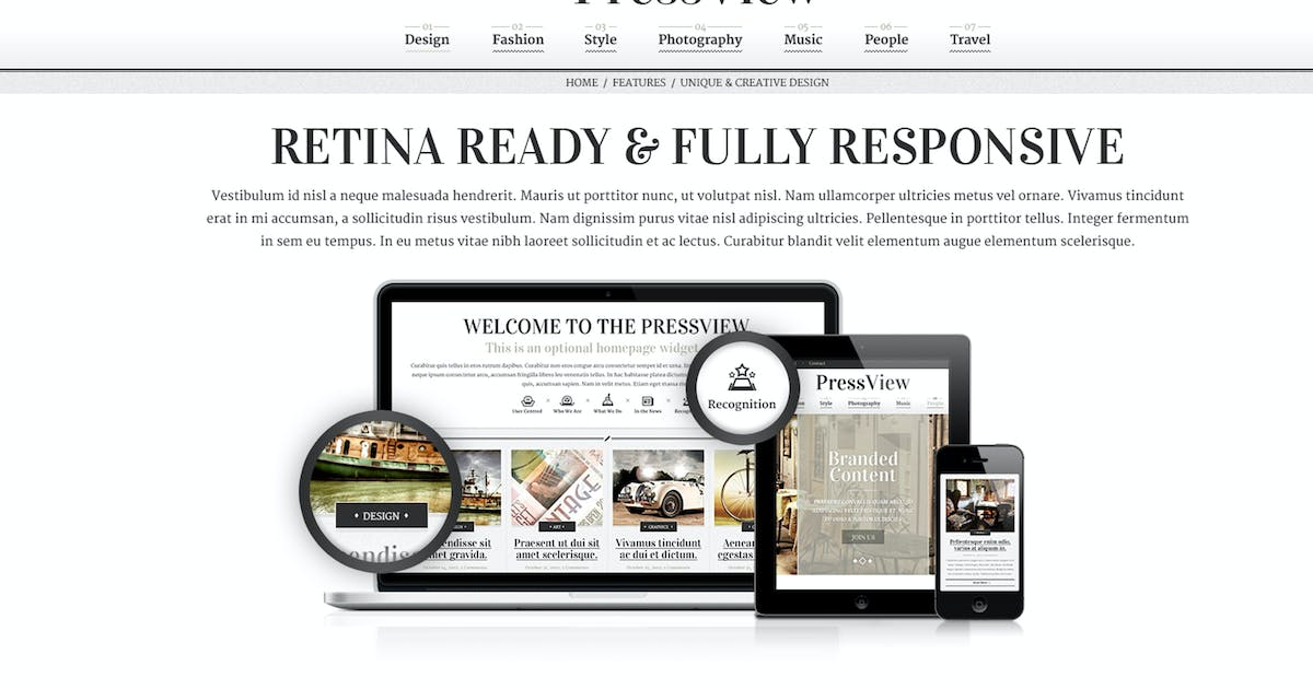 Download PressView Vintage and Stylish Magazine Template by CreativeWS
