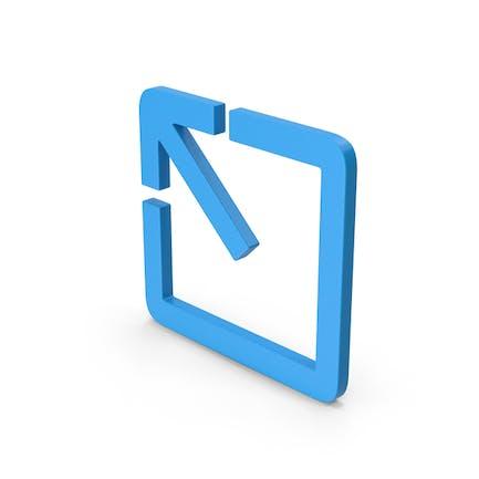Symbol Expand Button Blue