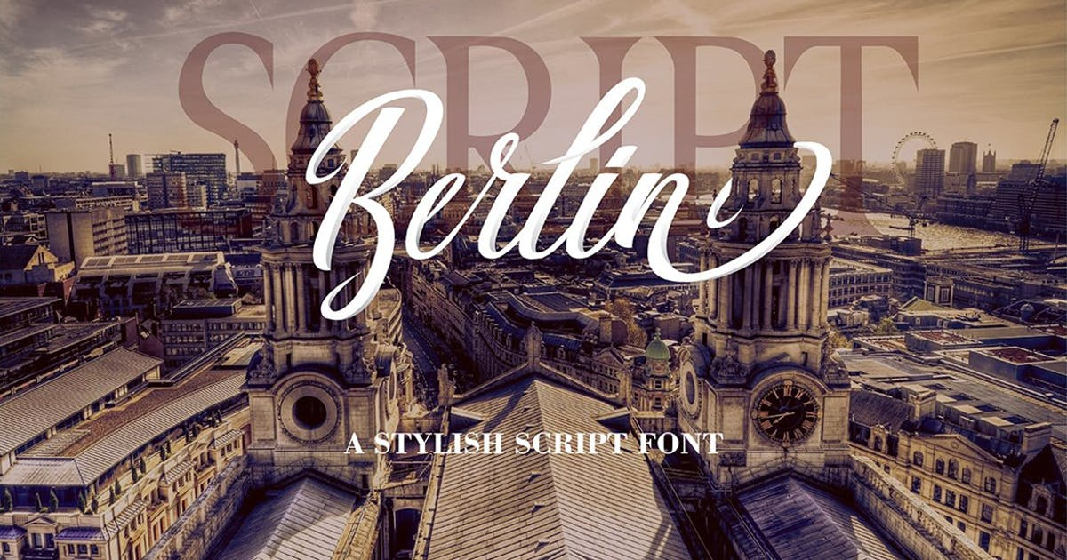 Download Berlin Script + Great Serif by DebutStudio
