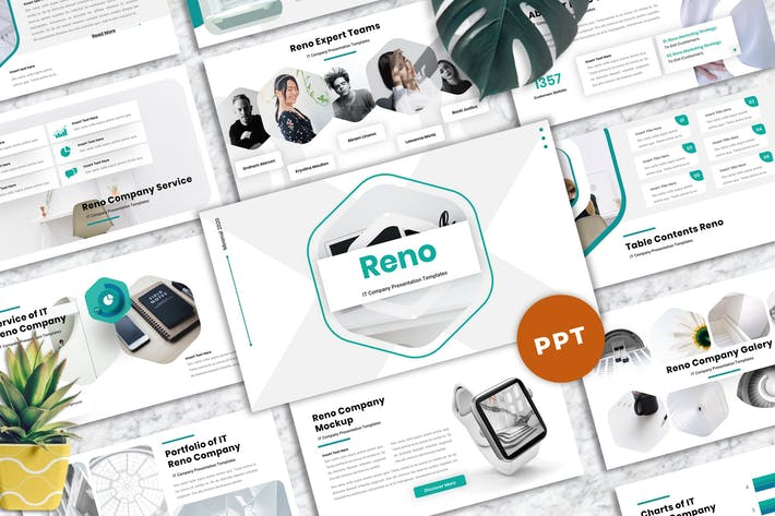 Thumbnail for Reno - IT Company Powerpoint Templates