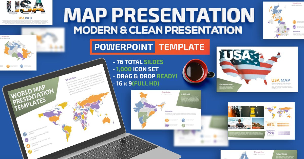 Download Map Design Powerpoint Presentation by mamanamsai