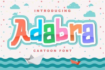 Adaabra | Fuente decorativa de dibujos animados