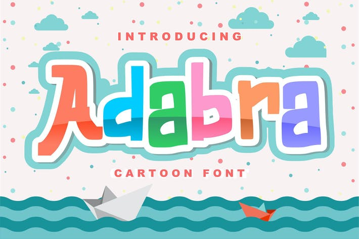 Thumbnail for Adabra | Decorative Cartoon Font