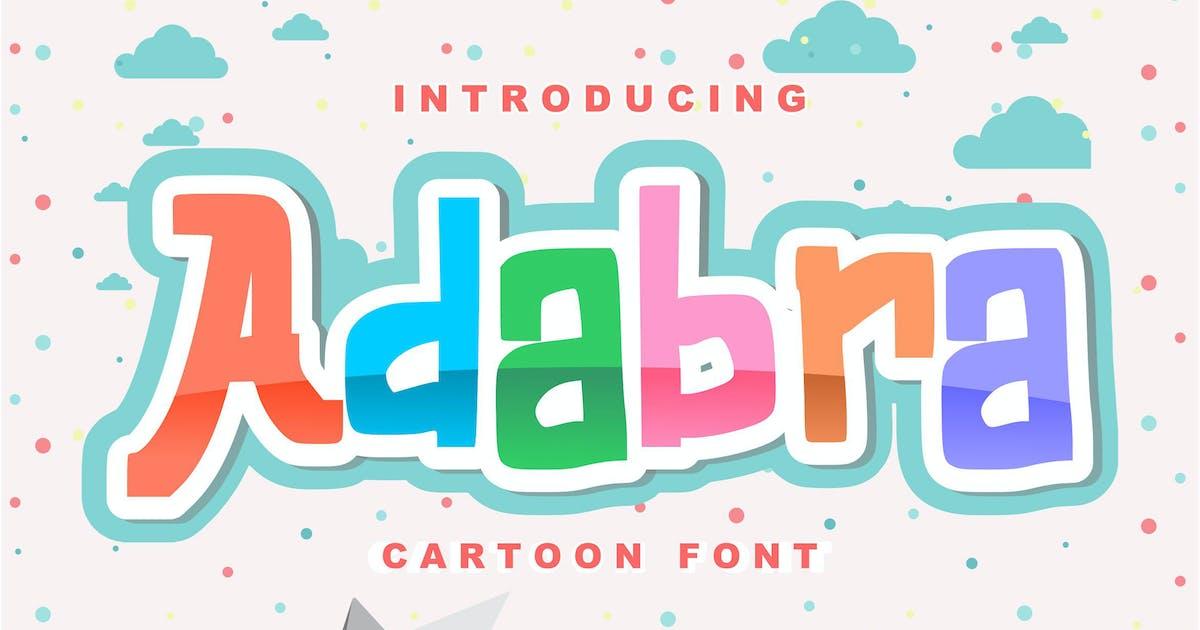 Download Adabra | Decorative Cartoon Font by Vunira