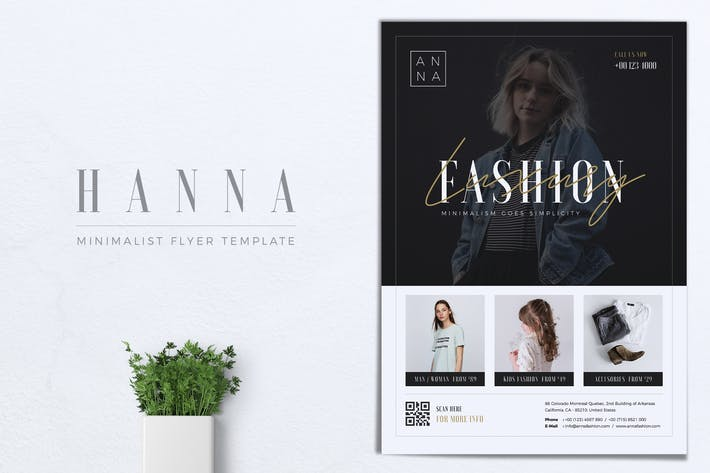 Thumbnail for HANNA Minimal Fashion Flyer