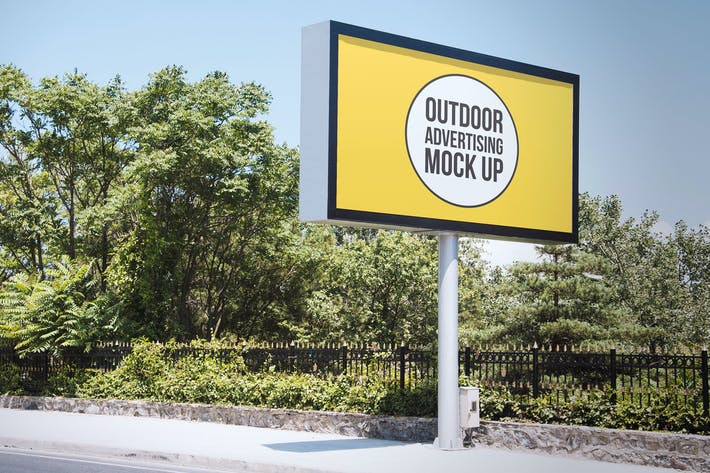 Thumbnail for Outdoor Advertisement Mockup Template #10
