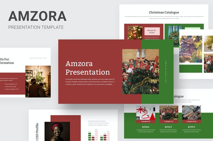 Thumbnail for Amzora - Christmas Keynote