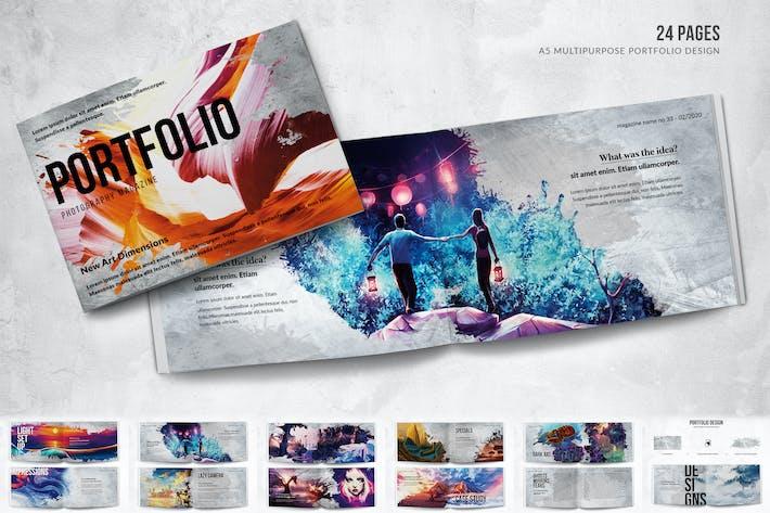 Thumbnail for Portfolio Design - A5 Horizontal Bifold - 24 Pages