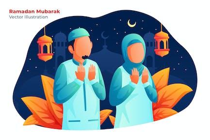 Ramadan Moubarak - Illustration Vecteur