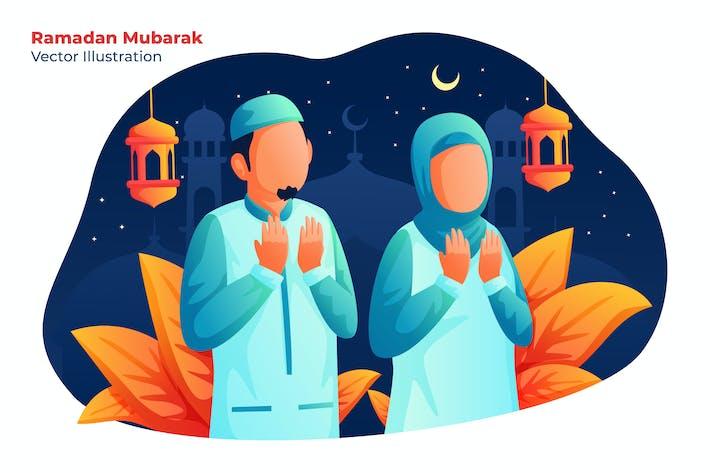 Thumbnail for Ramadan Mubarak - Vektor illustration