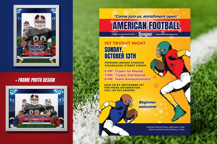 Thumbnail for American Football Tryout Flyer