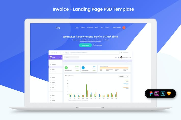 Thumbnail for Invoice - Landing Page Template