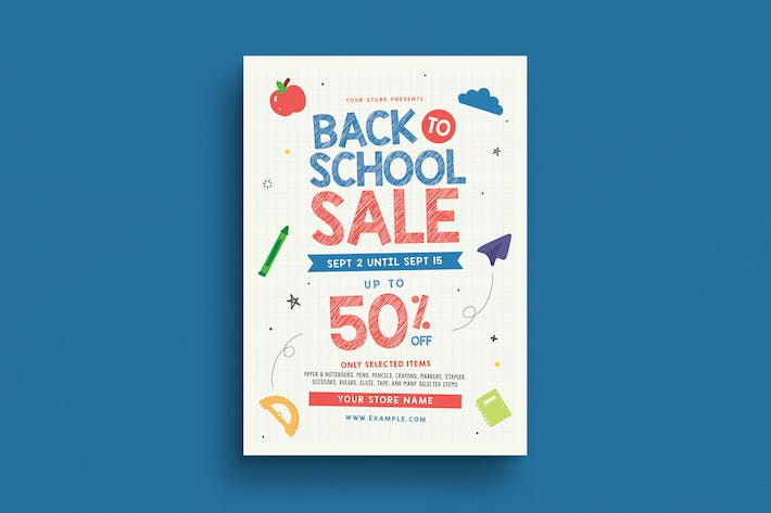 Thumbnail for Back To School Sale Event Flyer
