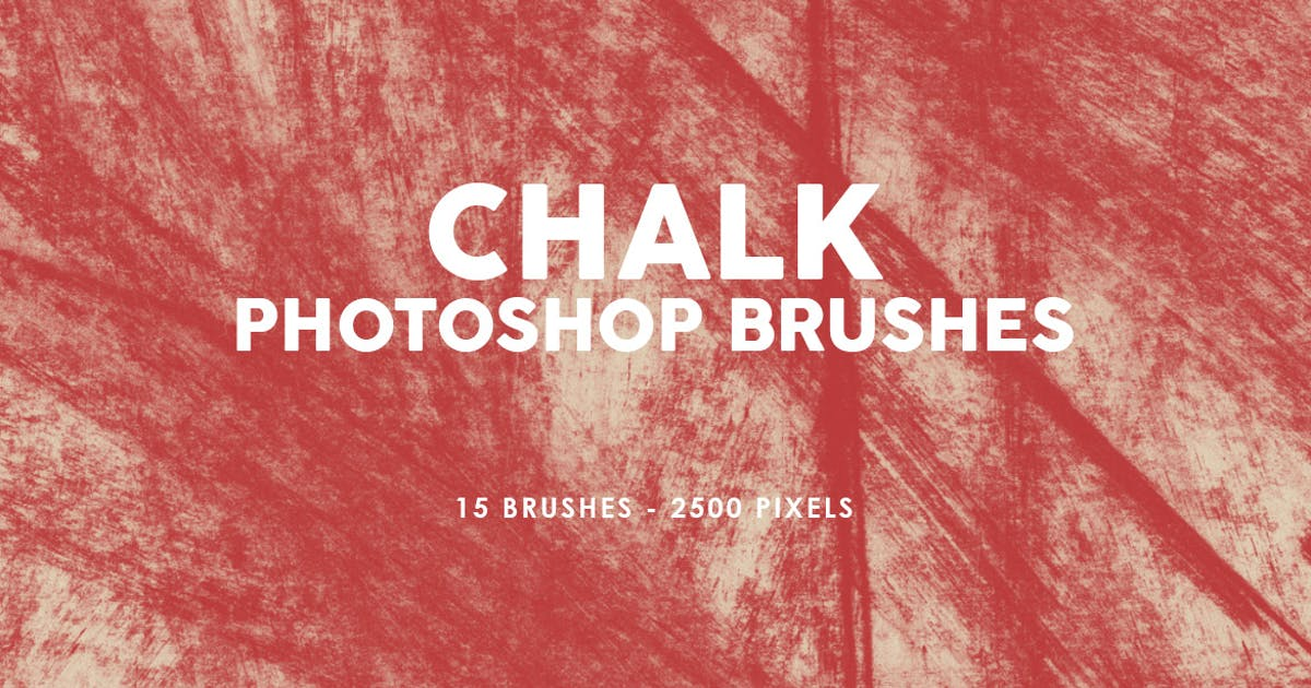 Download Chalk Texture Photoshop Stamp Brushes 2 by M-e-f