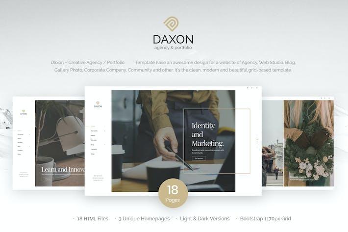 Thumbnail for Daxon - Plantilla HTML5 de Agencia y Porfolio
