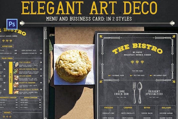 Thumbnail for Menu Art Déco élégant