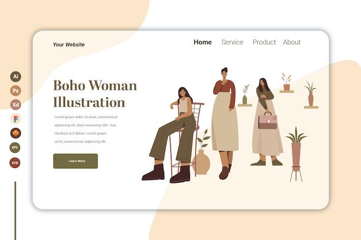 Thumbnail for Boho Woman Vol 1 - Landing Page Template