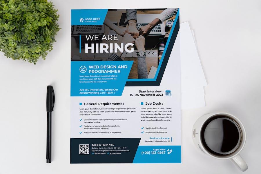 Web Design Hiring Flyer