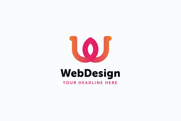 Thumbnail for Web Design W Letter Logo Template