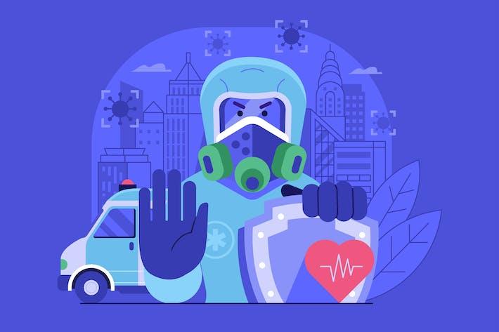 Thumbnail for Closing City Border for Virus Quarantine Concept