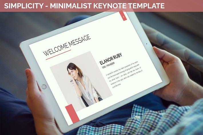 Thumbnail for Simplycity - Minimalist Keynote Template