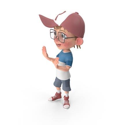 Cartoon Junge sprechen