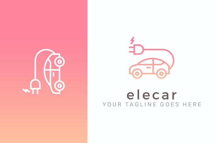Thumbnail for Elecar - Electric Car Logo Template