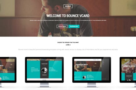 BOUNCE - Responsive One Page Vcard Template
